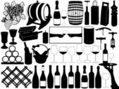 Set de vino — Vector de stock