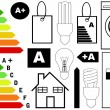 Energy efficiency elements — Stock Vector