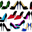 Illustration of different shoes — Vector de stock #9017666