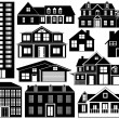 Stock Vector: House silhouettes