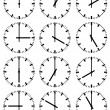 Stockvektor : Illustration of clocks