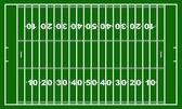 Campo di gioco del calcio americano — Vettoriale Stock