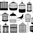 Stock Vector: Bird cages