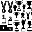 Trophies and medals set - Stock Vector