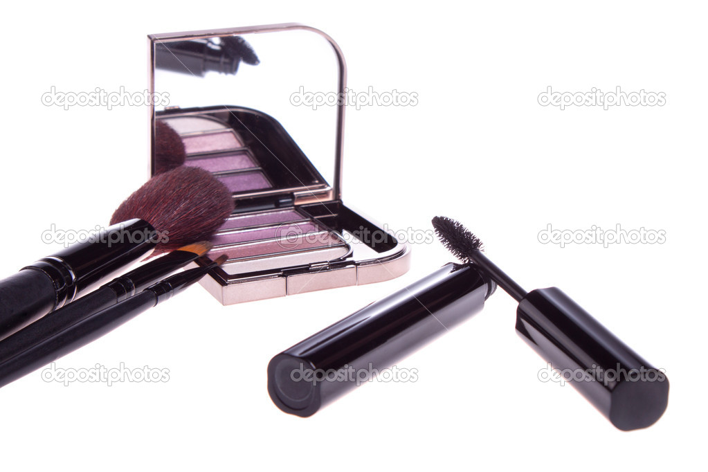 A set of makeup, eye shadow brush — Stock Photo #10241353