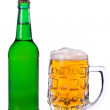 A mug of beer, a bottle of beer — Stock Photo