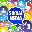 Social Media Background - Stock Photo