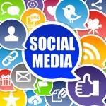 Social Media Background — Stock Photo