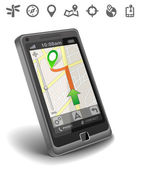 Smartphone maps navigation — Stock Photo