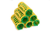 Stack of hair rollers — Stock Photo