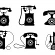 Stock Vector: Vintage telephones