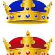 Stock Vector: Royal crowns