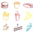 Royalty-Free Stock Vector Image: Fast food and snacks