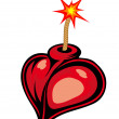 Royalty-Free Stock Vector Image: Cartoon heart bomb