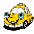 Cartoon taxi car — Stockvector #10059565