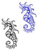 Underwater seahorse animal — Stock Vector