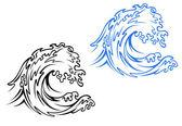 Sea wave — Stock Vector