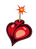 Bomba de coração dos desenhos animados — Vetorial Stock