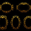 Golden vintage frames and borders — Stock Vector