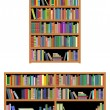 Horizontal and vertical bookshelf — Stock Vector #10459054