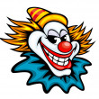 Fun circus clown — Stock Vector