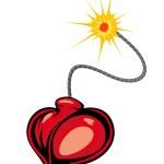 Heart bomb — Stock Vector