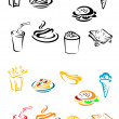Fast food elements — Stock Vector