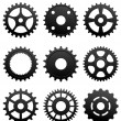 Pinions and gears - Stock Vector