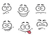 Cartoon emotions faces — Stock Vector