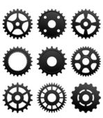 Pinions and gears — Stock Vector