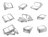 Inbundna böcker — Stockvektor