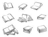 Libros de tapa dura — Vector de stock