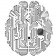 Motherboard brain - Stock Vector