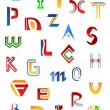 Set of alphabet symbols and letters — Stock Vector