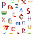 Vettoriale Stock : Set of alphabet symbols and letters