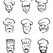 Restaurant chefs — Stock Vector #10545451