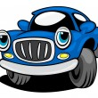 Funny blue car — Stock Vector