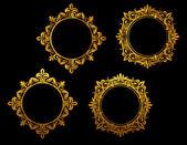 Golden frames set — Stock Vector
