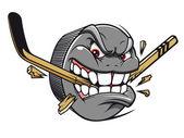 Hockey puck mascot — Stock Vector