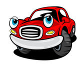 Funny cartoon car — Stock Vector