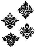 Damask flower patterns — Stock Vector