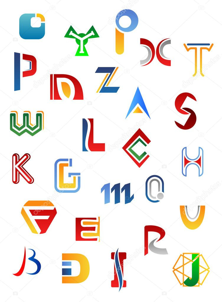 Set of full alphabet symbols and letters  Stock Vector #10545424