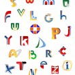 Set of alphabet letters — Stockvectorbeeld