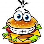 Appetizing hamburger — Stock Vector