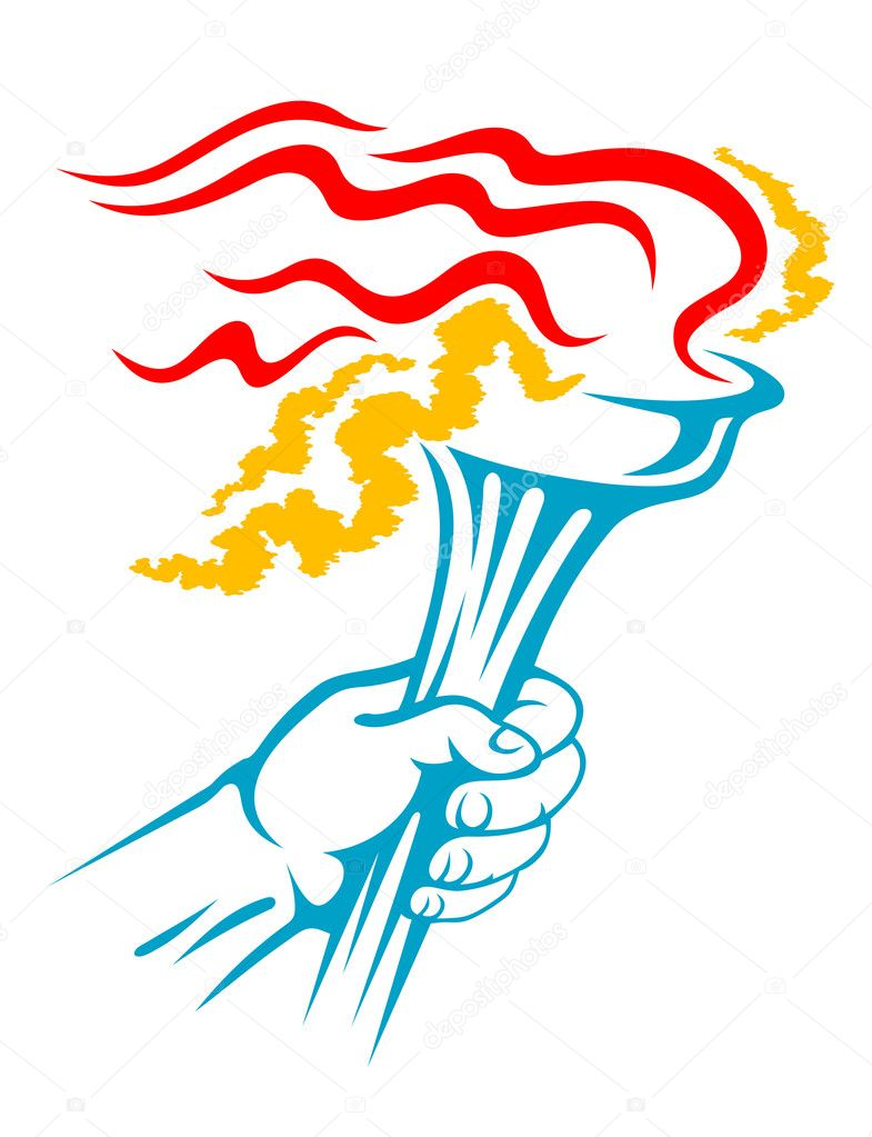 flaming torch in hand stock vector © seamartini 10676184 flaming torch in hand stock vector 10676184