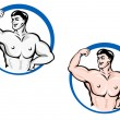 Powerful bodybuilder — Stock Vector #8043668