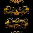 Golden vintage floral elements — Vector de stock #8043716