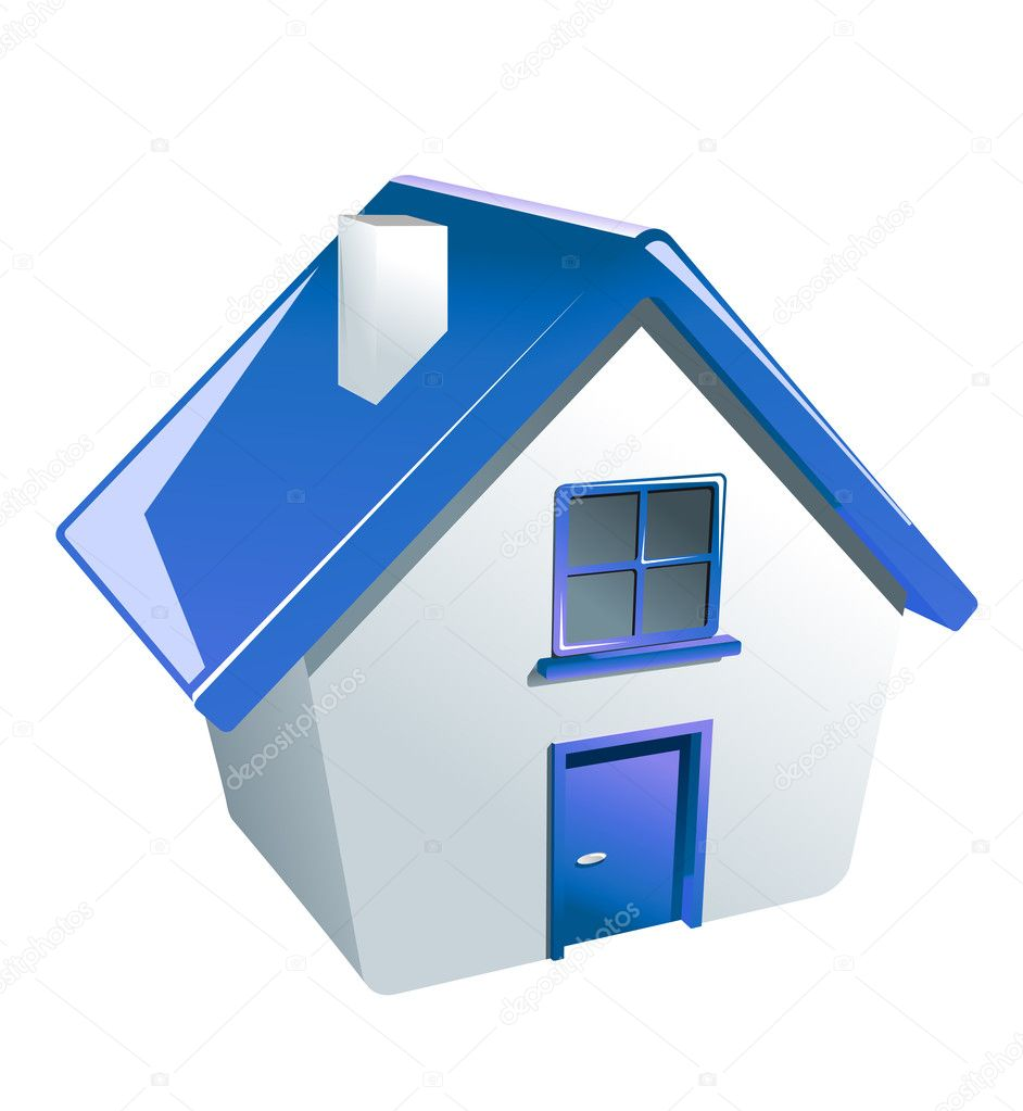 Glossy house icon for web or another design — Stock Vector #8399907
