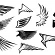 Royalty-Free Stock Imagen vectorial: Set of heraldic wings