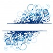 Royalty-Free Stock Imagen vectorial: Blue floral border